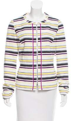 Basler Collarless Stripe Jacket w/ Tags