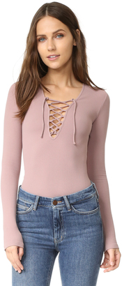 Free People Lace Up Layering Top $58 thestylecure.com
