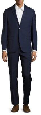 Black & Brown Black Brown Jack Fit Plaid Wool Suit