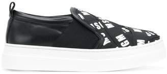 MSGM branded slip-on sneakers
