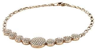 Camilla And Marc Orphelia ZA-7000 Women's Bracelet Gold-Plated Silver Zirconia White Brilliant Cut 19 cm