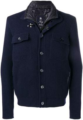 Fay gilet insert knitted jacket