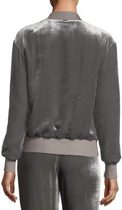 St. John Velvet Bomber Jacket