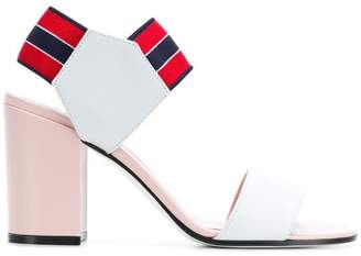 Pollini white and pink sandals
