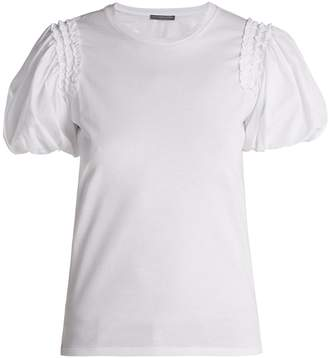 Alexander McQueen Puffed-sleeve cotton T-shirt