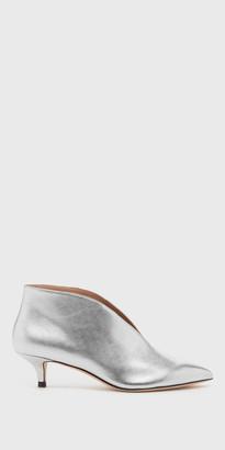 Kora Silver Split Vamp Bootie | FREE Shipping | Shop Pour La Victoire $275 thestylecure.com