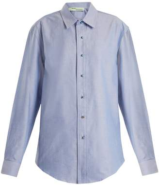 Off-White Point-collar oxford-cotton shirt