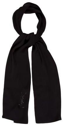 Saint LaurentYves Saint Laurent Embellished Silk Scarf