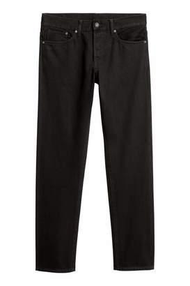 H&M Straight Jeans - Black - Men