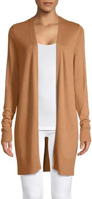 Lord & Taylor Petite Open Front Long-Sleeve Cardigan