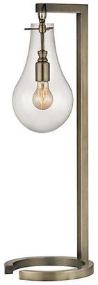 One Kings Lane Metal Table Lamp - Antiqued Brass