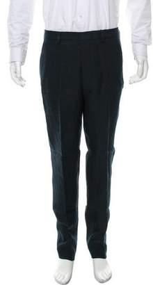 Ami Alexandre Mattiussi Flat Front Linen Pants