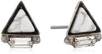 Sorrelli Lisa Oswald Collection Triangle Semi-Precious Stud Earrings