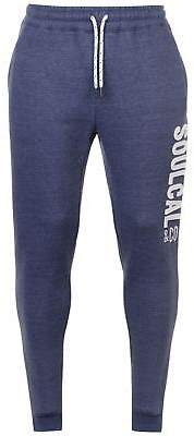 Soul Cal SoulCal Mens Felt Joggers Fleece Jogging Bottoms Trousers Pants Insulated Jersey