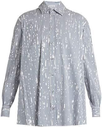 Tomas Maier Painter striped cotton-poplin shirt