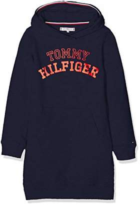 Tommy Hilfiger Girl's Essential Logo Hoodie Dress L/s(Size: 3)