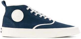 MAISON KITSUNÉ chambray mid-top sneakers