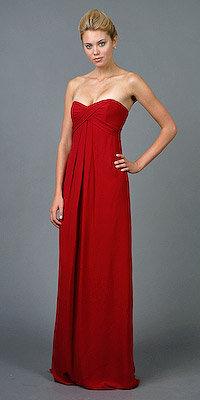 Nicole Miller Ruby Red Silk Georgette Dresses