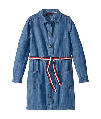 Tommy Hilfiger Adaptive Adaptive Girls' Dress with VELCRO(r) Brand Closures at Chest (Little Kids/Big Kids)