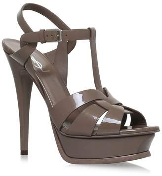 Saint Laurent Patent Tribute Sandals 105