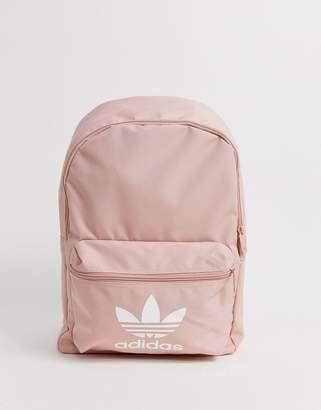 adidas Trefoil logo backpack in pink