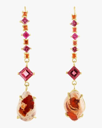 Of A Kind Eden Presley Mixed Tourmaline, Sapphire and Opal Earrings