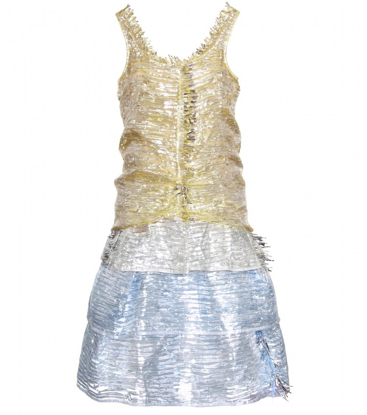 Marc Jacobs METALLIC FRINGED DRESS