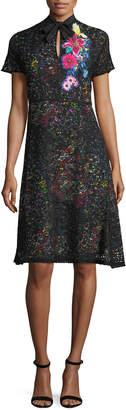 Etro Lace Over Multi-Print Dress