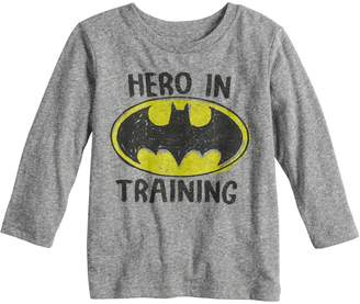 "Justice Baby Boy Jumping Beans DC Comics Batman ""Hero In Training"" Graphic Tee"