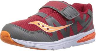 Saucony Boy's Baby Ride Pro Running Shoes, Red/Grey