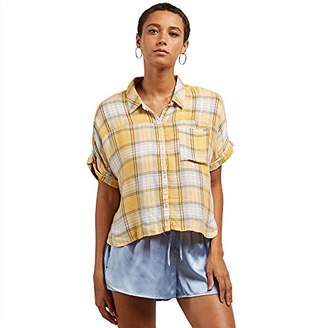 Volcom Junior's Need Now Short Sleeve Button Down Top