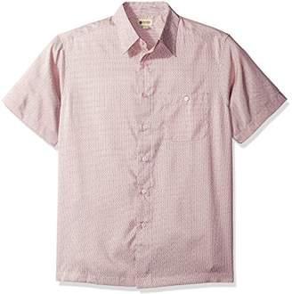 Haggar Men's Short Sleeve Microfiber Prints Woven Shirt