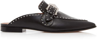 Givenchy Buckled Studded Leather Mules