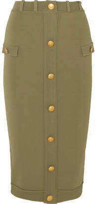 Embellished Jersey Skirt - Army green