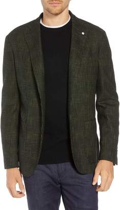 L.B.M. 1911 L.B.M 1911 Classic Fit Plaid Cotton Blend Sport Coat