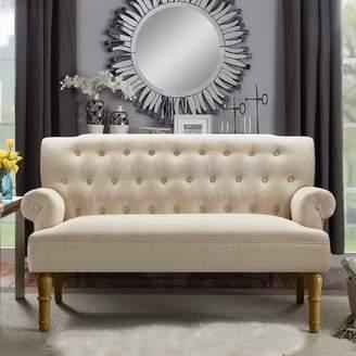 Charlton Home Barryknoll Chesterfield Settee Upholstery