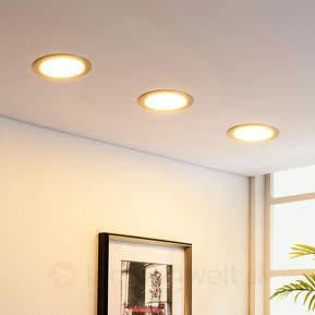 Nickelfarbener LED-Einbaustrahler Martje, rund