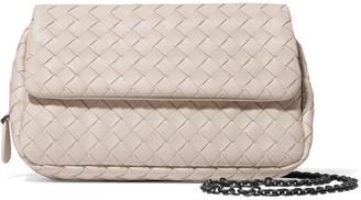 Bottega Veneta - Messenger Mini Intrecciato Leather Shoulder Bag - Cream $1,380 thestylecure.com