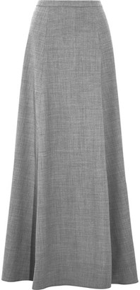 J.Crew - Collection Adriana Wool-blend Flannel Maxi Skirt - Gray $230 thestylecure.com
