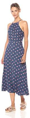 Paris Sunday Women's Skinny Strap Highneck Print Maxi Dress