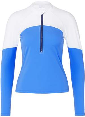 Paige Flagpole Swim 'Paige' colourblock half zip rash-guard