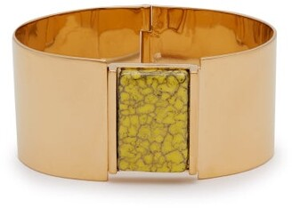 Isabel Marant Marbled Stone Embellished Cuff - Womens - Yellow