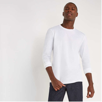 Joe Fresh Men's Long Sleeve Tee, White (Size XL)