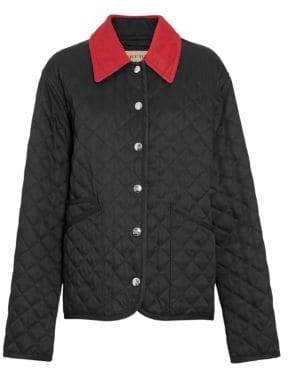 Burberry Women's Dranefeld Short Quilted Jacket - Black - Size Small