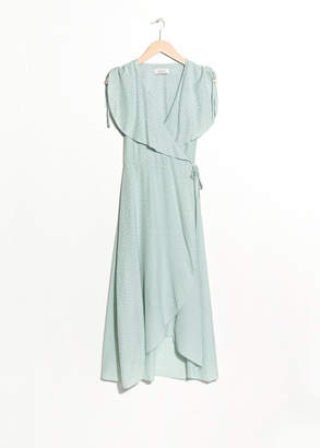 And other stories Oversized Lapel Wrap Dress