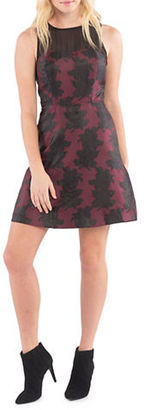 Kensie Winter Roses Sleeveless A-Line Dress $99 thestylecure.com