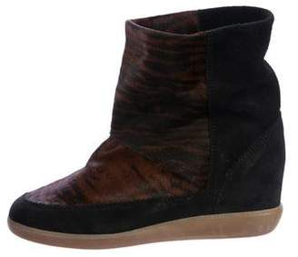 Isabel Marant Ponyhair Wedge Booties