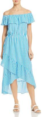 Tommy Bahama Palm Party Off-the-Shoulder Midi Dress Swim Cover-Up