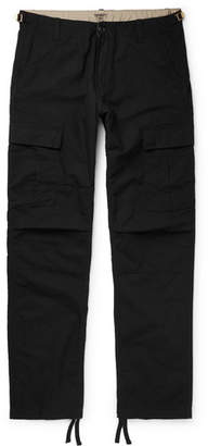 Carhartt WIP - Aviation Slim-fit Cotton-ripstop Cargo Trousers - Black