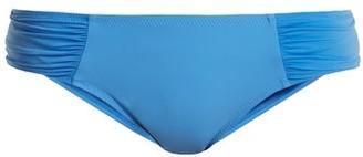 Heidi Klein Body Ruched Side Bikini Briefs - Womens - Blue